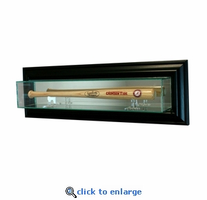 Wall Mounted Baseball Mini Bat Display Case - Black