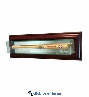 Wall Mounted Baseball Mini Bat Display Case - Cherry