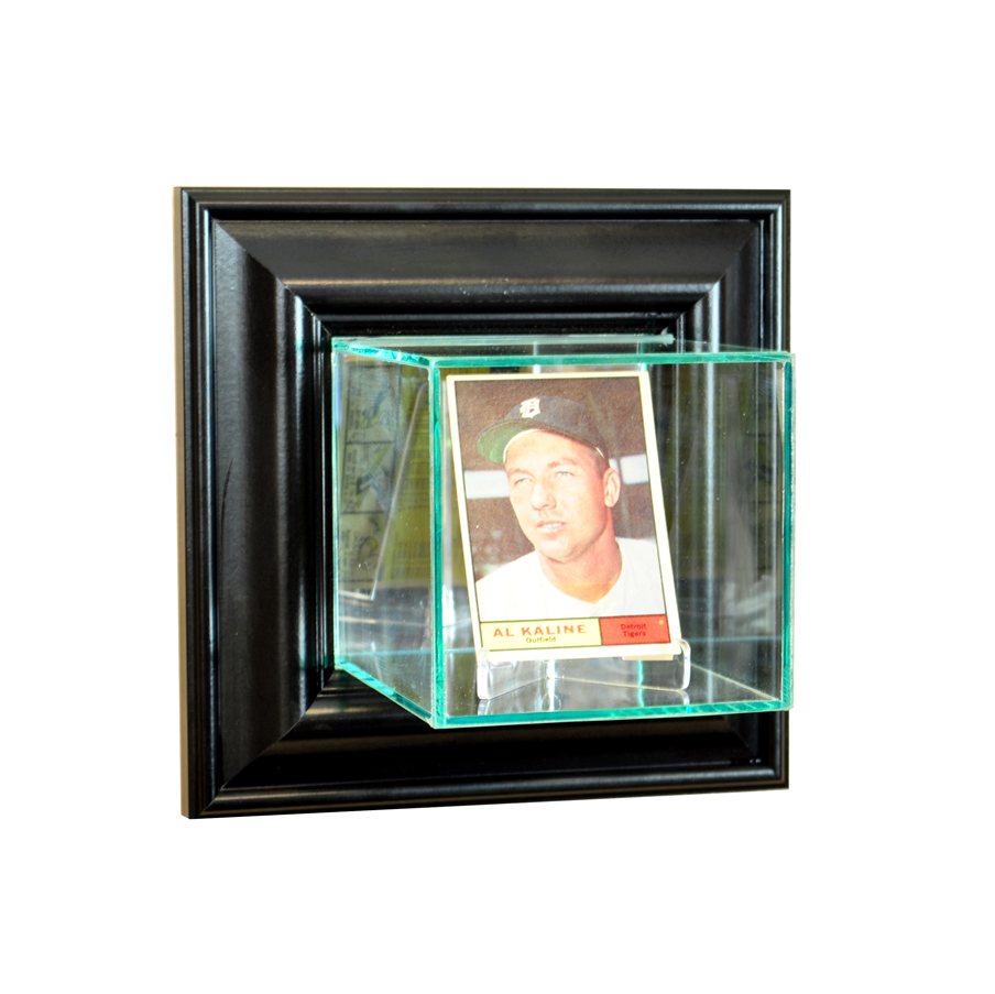 Wall Mounted Card Display Case Black