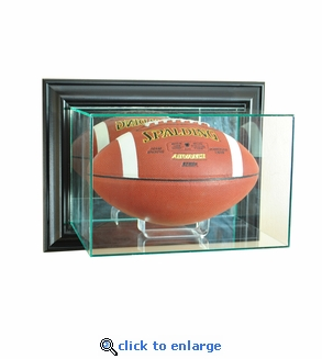 Wall Mounted Football Display Case - Black