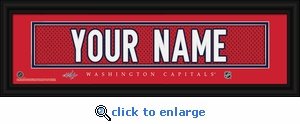 Washington Capitals Personalized Stitched Jersey Nameplate Framed Print