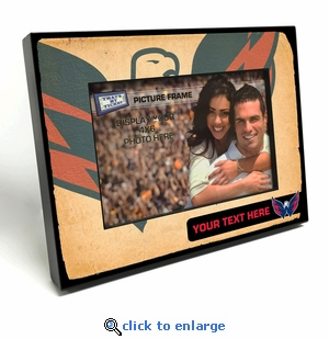 Washington Capitals Personalized Vintage Style Black Wood Edge 4x6 inch Picture Frame