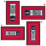 Washington Capitals Single Ticket Frame