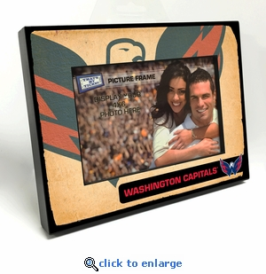 Washington Capitals Vintage Style Black Wood Edge 4x6 inch Picture Frame