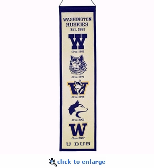 Washington Cougars Heritage Wool Banner (8 x 32)