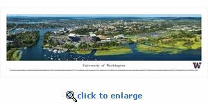 Washington Huskies - Campus Aerial - Panoramic Photo (13.5 x 40)
