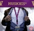 Washington Huskies NCAA Lanyard Key Chain and Ticket Holder - Purple