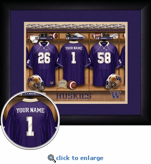 Washington Huskies Personalized Football Locker Room Print