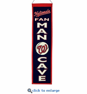 Washington Nationals Man Cave Wool Banner (8 x 32)