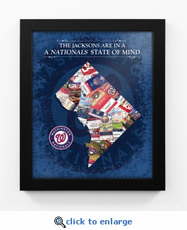 Washington Nationals Personalized State of Mind Framed Print - DC