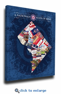 Washington Nationals State of Mind Canvas Print - DC