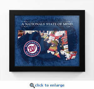 Washington Nationals State of Mind Framed Print - Maryland