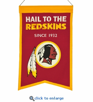 Washington Redskins Franchise Wool Banner (14 x 22)
