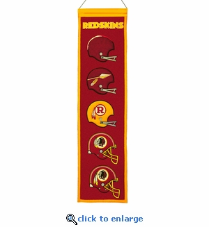 Washington Redskins Heritage Wool Banner (8 x 32)