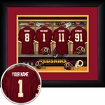 Washington Redskins Personalized Locker Room Print