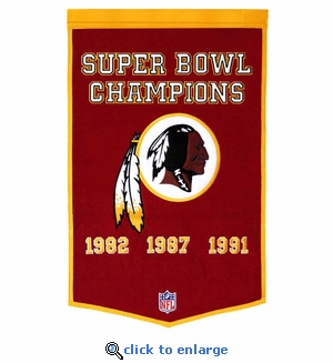 Washington Redskins Super Bowl Dynasty Wool Banner (24 x 36)