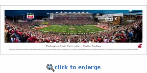Washington State Cougars Football - 50 Yard Line - Panoramic Photo (13.5 x 40)
