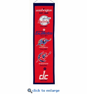 Washington Wizards Heritage Wool Banner (8 x 32)