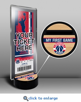 Washington Wizards My First Game Ticket Display Stand