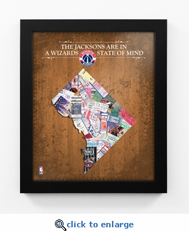 Washington Wizards Personalized State of Mind Framed Print - DC