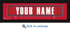 Washington Wizards Personalized Stitched Jersey Nameplate Framed Print