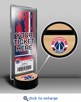 Washington Wizards Ticket Display Stand