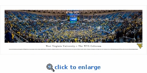West Virginia Mountaineers Basketball - Panoramic Photo (13.5 x 40)