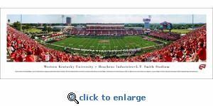Western Kentucky Hilltoppers Football - 50 Yard Line - Panoramic Photo (13.5 x 40)