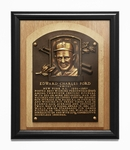 Whitey Ford Baseball Hall of Fame Plaque Framed Print - New York Yankees
