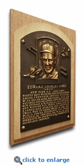Whitey Ford Baseball Hall of Fame Plaque on Canvas - New York Yankees