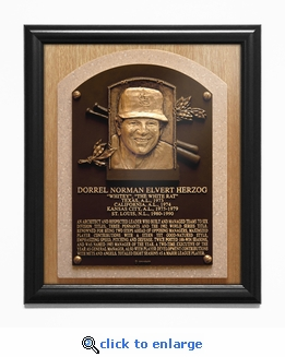Whitey Herzog Baseball Hall of Fame Plaque Framed Print - St Louis Cardinals