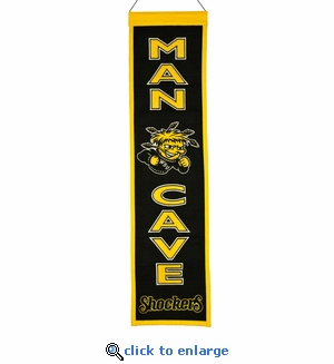 Wichita State Shockers Man Cave Wool Banner (8 x 32)
