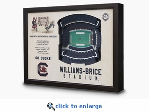 Williams-Brice Stadium 3-D Wall Art - South Carolina Gamecocks Football
