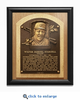 Willie Stargell Baseball Hall of Fame Plaque Framed Print - Pittsburgh Pirates