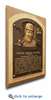 Willie Stargell Baseball Hall of Fame Plaque on Canvas - Pittsburgh Pirates