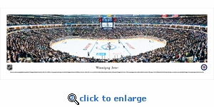 Winnipeg Jets - Center Ice - Panoramic Photo (13.5 x 40)
