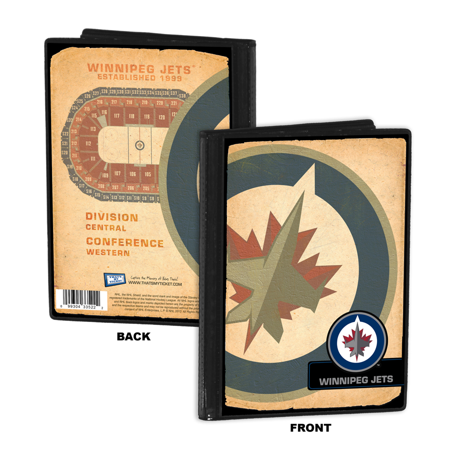 Winnipeg jets personalized canvas birth announcement baby gift winnipeg jets 4x6 photo album brag book negle Image collections
