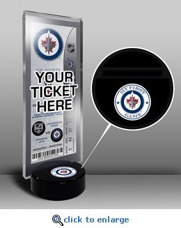 Winnipeg Jets My First Game Hockey Puck Ticket Stand