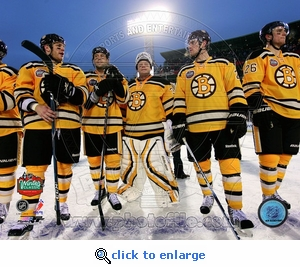 Winter Classic 2010: Bruins Postgame Lineup 8x10 Photo - Boston Bruins