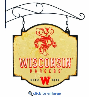 Wisconsin Badgers 16 X 16 Metal Tavern / Pub Sign