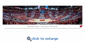 Wisconsin Badgers Basketball - Panoramic Photo (13.5 x 40)
