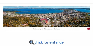 Wisconsin Badgers - Campus Aerial - Football - Panoramic Photo (13.5 x 40)