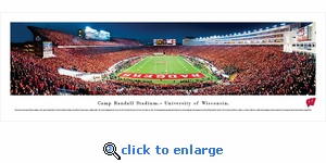 Wisconsin Badgers Football - End Zone - Panoramic Photo (13.5 x 40)