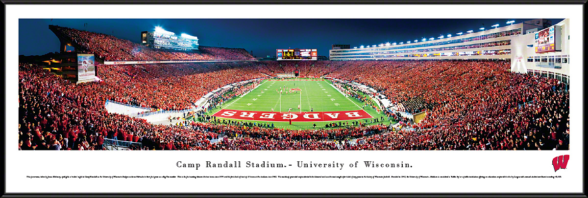 Wisconsin Badgers Football End Zone Panoramic Photo 13 5 X 40