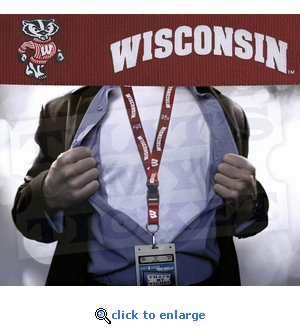 Wisconsin Badgers NCAA Lanyard Key Chain and Ticket Holder