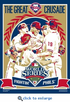 World Series Champions 2008 Sports Propaganda Poster - Philadelphia Phillies
