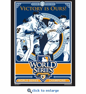 World Series Champions 2010 Sports Propaganda Poster - San Francisco Giants