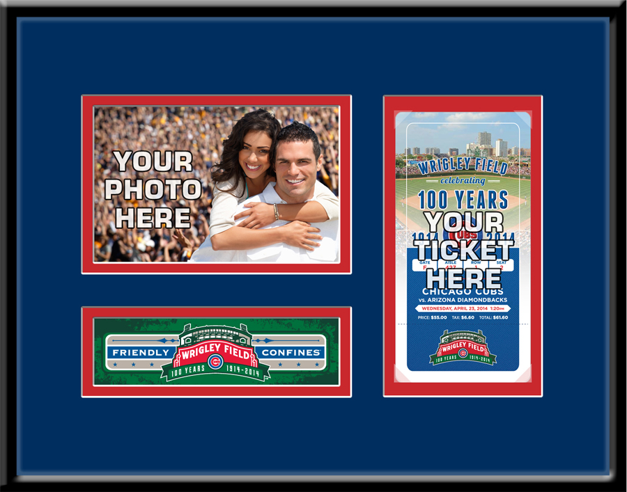 Wrigley Field 100th Anniversary 4x6 Photo Ticket Frame – Chicago Cubs