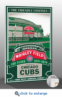 Wrigley Field 100th Anniversary Sports Propaganda Canvas Print – Chicago Cubs