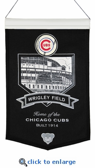 Wrigley Field Wool Banner (20 x 15) - Chicago Cubs